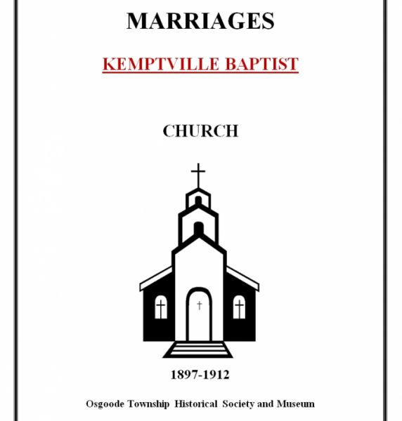 Baptist Church Marriages - Kemptville
