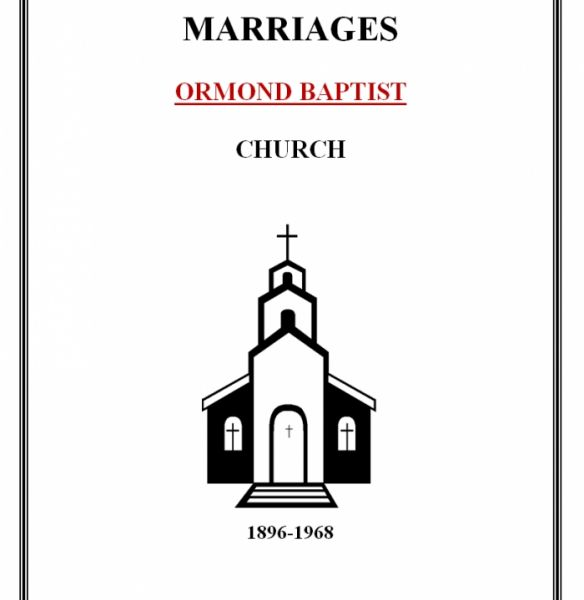 Baptist Church Marriages - Ormond