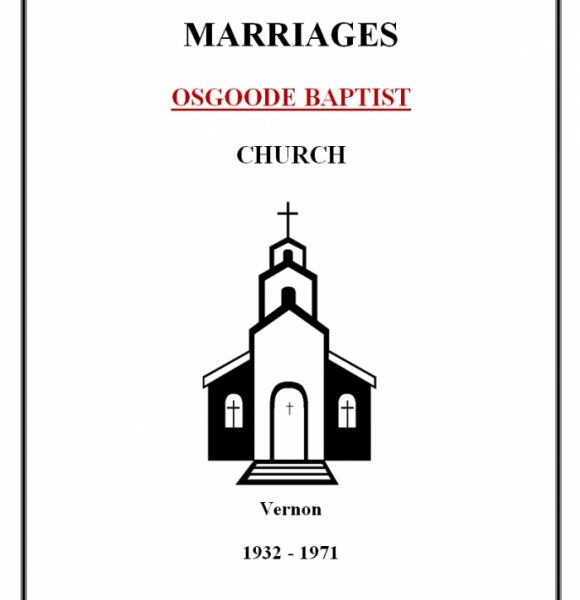 Baptist Church Marriages - Vernon