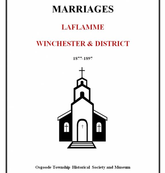 Laflamme - Winchester & District Marriages