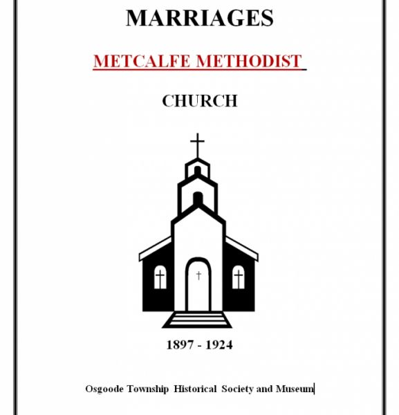 Methodist Church Marriages - Metcalfe