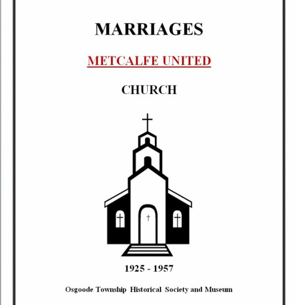 United Church Marriages - Metcalfe