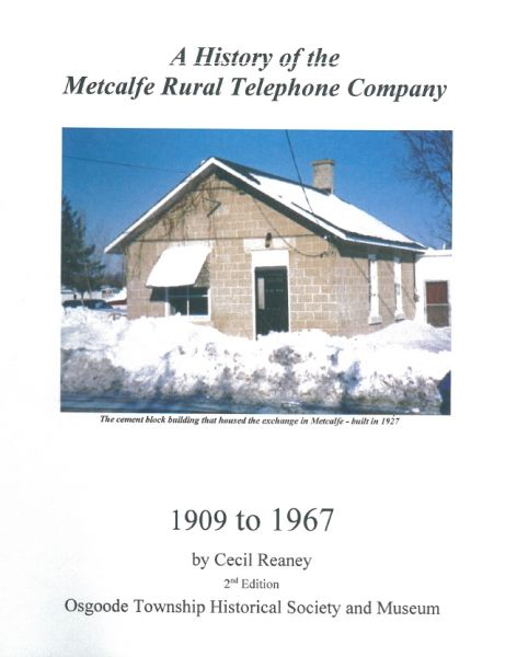 History of the Metcalfe Rural Telephone Co.
