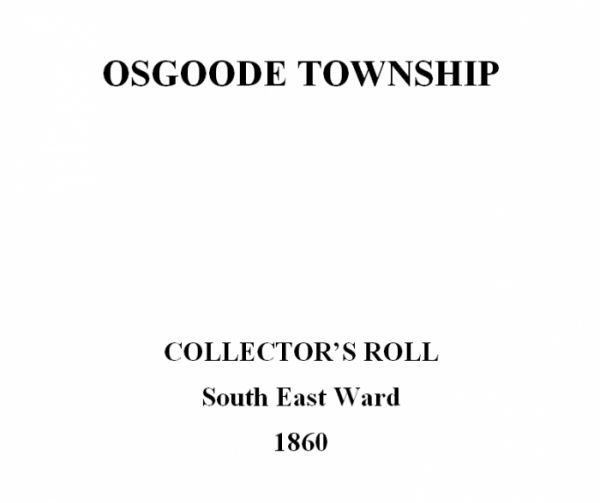 Osgoode Township Collector's Roll