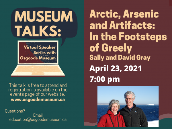 Museum Talks # 2 - Arctic, Arsenic and Artifacts: In the Footsteps of Greely